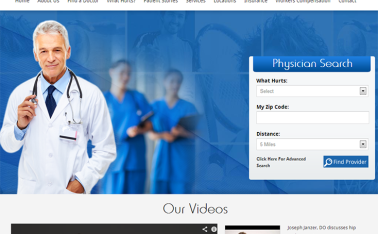 OrthoArizona OSNA New Website Design