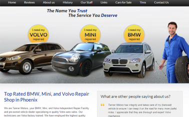 Tanner Motors New Website Design