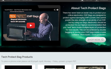 Tech Protect Bag New website redesign