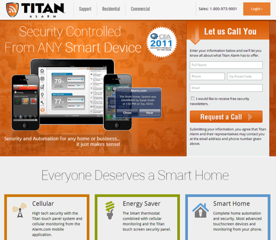 Titan Alarm New Website Design
